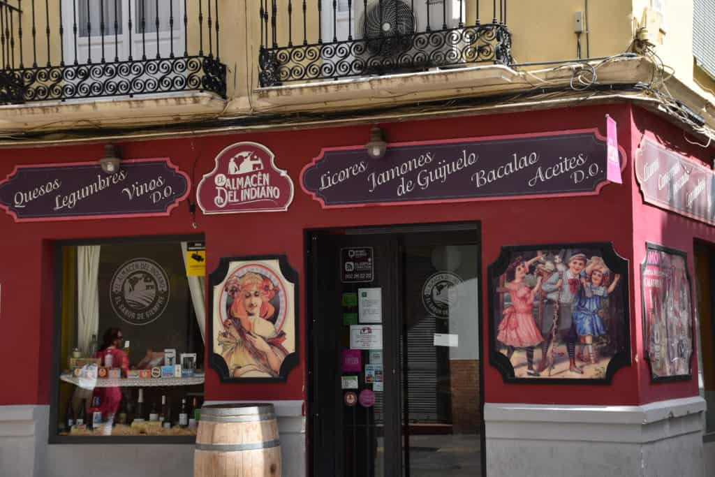 Local Malaga wine shop