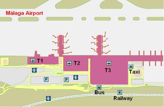 Malaga airport map