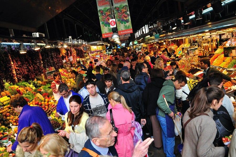 Boqueria Market in Barcelona